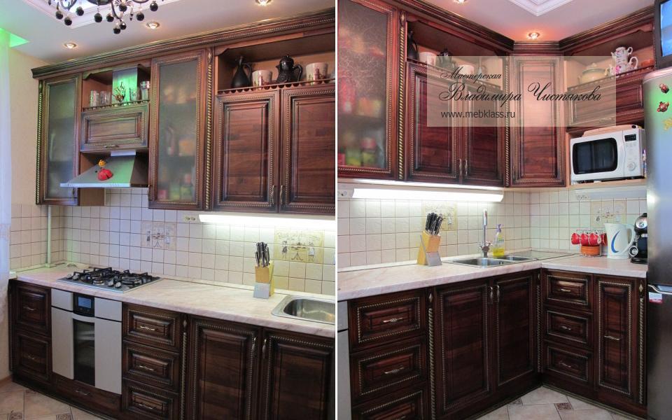 Небольшая угловая кухня для небольшой комнаты