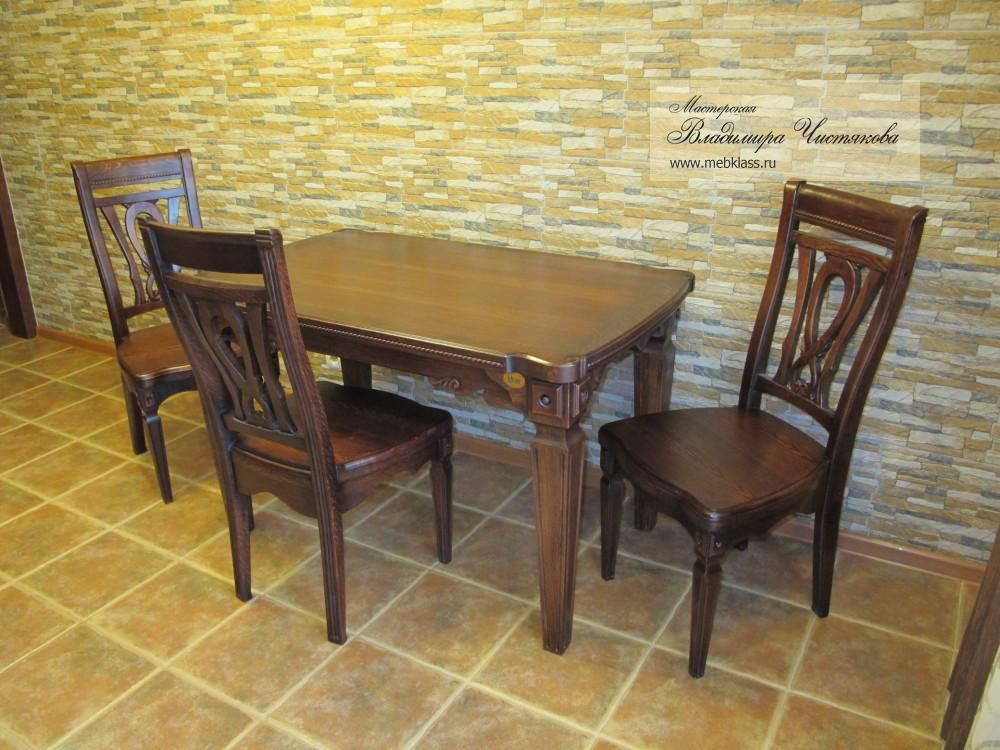 Стол и стулья из дуба под заказ